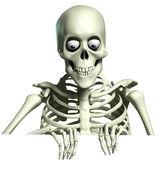 3d cartoon skeleton — Stock Photo
