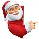 3d cartoon santa — Stock Photo #35037345