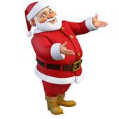 3d cartoon santa — Stock Photo