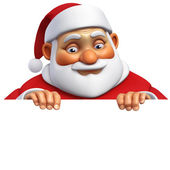 3d cartoon santa — Stock Photo
