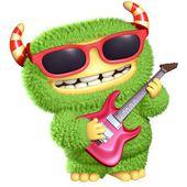 Monstro de desenho animado 3d — Fotografia Stock