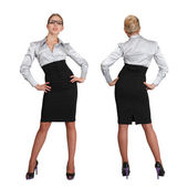 Two businesswoman - front and rear view — Stock Photo