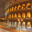 Rome: the Colosseum time lapse night - Stock Photo