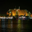 Hilton Eilat at night: coastline, beach, luna park, promenade, bay - Stockfoto