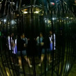 Luna Park: mirror matrix labyrinth — Stock Video