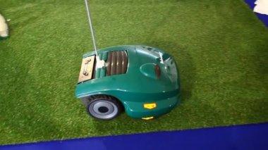 Robomow robotic lawn mower — Stock Video