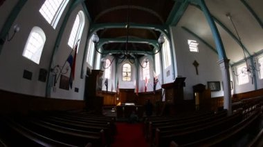 English Reformed Church Amsterdam Netherlands — Stock Video