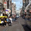 Stock Video: Streets, canals, bridges, buildings, boats in Amsterdam, Holland