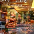 Stock Video: Delicatessen shop display window
