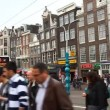 Stock Video: Damrak, Amsterdam city central street, Holland