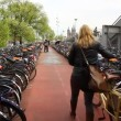 Bicycle parking lot in Amsterdam, Holland — Stock Video