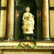 Madonna and Child sculpture of Mary with the infant Jesus - Foto Stock