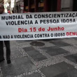 Protest against discrimination and violence - Foto de Stock