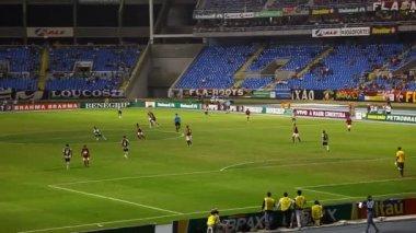 Football game Flamengo vs Botafogo in Rio de Janeiro Brazil — Stock Video