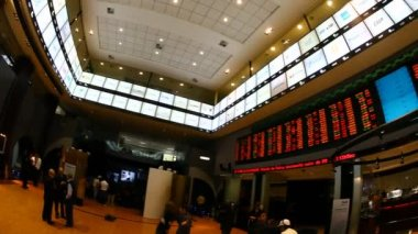 Bovespa Brazilian Stock Exchange Market Lobby — Stock Video