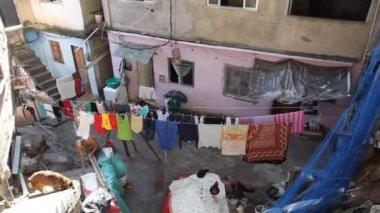 Vida cotidiana en la favela rocinha, río de janeiro, brasil — Vídeo de stock