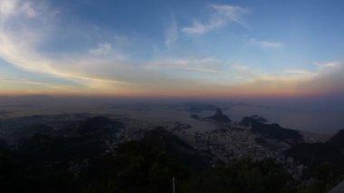 Rio de Janeiro at sunset — Stock Video