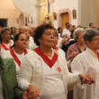 Mass of Corpus Christi in Paraty, Brazil - Foto Stock