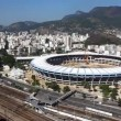 Maracana Stadium aerial Rio de Janeiro Brazil helicopter flight - Stock fotografie