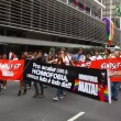 Anti homophobia at LGBT Gay Pride Parade Sao Paulo Brazil — Stock Video