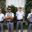 Military Police in action in Sao Paulo Brazil — Stock Video
