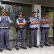 Stock Video: Military Police in action in Sao Paulo Brazil