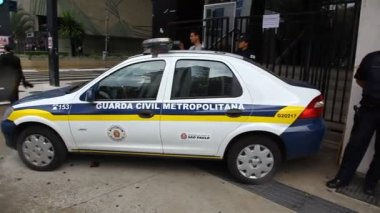Civil Guard Police in action in Sao Paulo Brazil — Stock Video