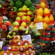 Choice of fresh tropical fruits offered in the market - Stockfoto