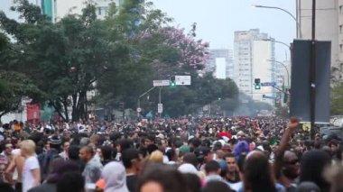 LGBT Gay Pride Parade Sao Paulo Brazil — Stock Video