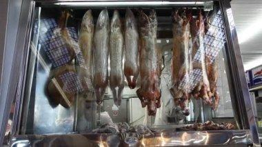 Meat at Municipal Market Brazil — Stock Video