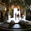 Church of the Holy Sepulchre: The Stone of the Anointing, The Stone of Unction - Foto Stock