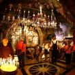 Church of the Holy Sepulchre: The Altar of the Crucifixion — Vídeo Stock