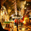 Church of the Holy Sepulchre: The Altar of the Crucifixion - 图库照片