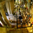 Church of the Holy Sepulchre: The Stone of the Anointing, The Stone of Unction — 图库视频影像
