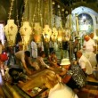 Stock Video: Church of Holy Sepulchre: Stone of Anointing, Stone of Unction