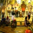 Church of the Holy Sepulchre: The Stone of the Anointing, The Stone of Unction - Stock Photo