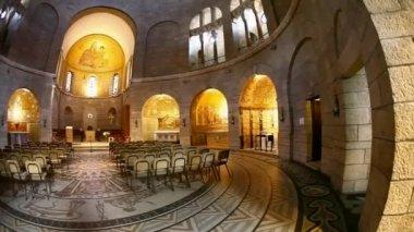 Igreja basílica da dormição, jerusalém — Vídeo stock