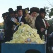 Stock Video: Hasidic celebration of Lag B'omer in Meron