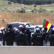 Druze representative protests gas pipeline on disputed land — Stock Video
