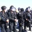Stock Video: Israeli police during demonstration