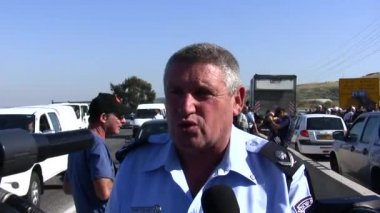 Major-General Shimon Koren Israel Police Northern District Commander — Stock Video