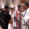 Christmas Mass at the Basilica of Annunciation in Nazareth, Israel — Stock Video
