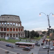 Rome: the Colosseum time lapse dawn - Stock Photo