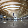 Stock Video: Pudong airport terminal Shanghai