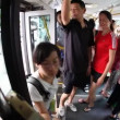 Riding the bus in Beijing — Stock Video