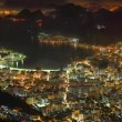 Rio de Janeiro at night time lapse - Stock Photo