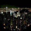 Hong Kong light show time lapse - Stock fotografie