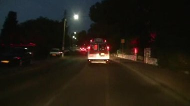 Ambulance chasing to claim insurance money, Israel — Stock Video