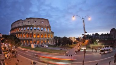 Rome: the Colosseum time lapse night — Stockvideo