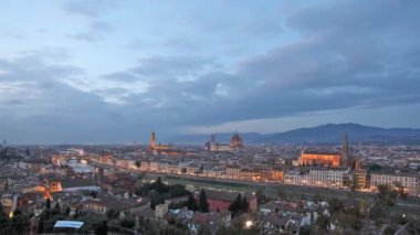 Florence at sunset — Stock Video